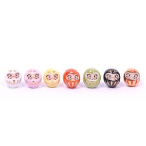 Mini Lucky Daruma Set Of 7