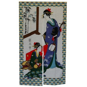 Musical Geisha Noren Japanese Curtain
