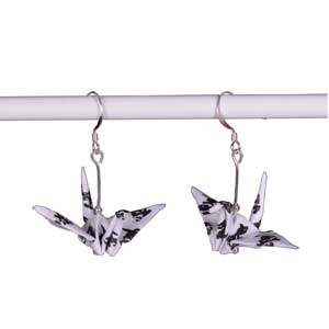 Origami Crane Handmade Earrings - Love