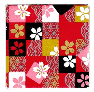 Red Patch Cherry Blossom Coaster x 1