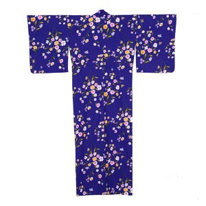 Purple Summer Flowers Yukata