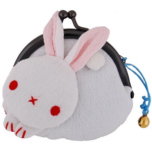 Rabbit purse - white/blue