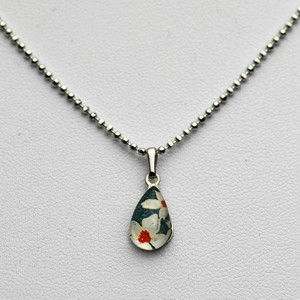 Small Teardrop necklace - Greeny Blue