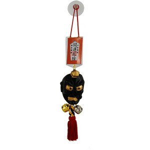 Tengu omamori charm (orange card)