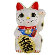 Big Japanese Fortune cat (Manekineko) - Left