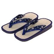 Blue Kasuri Zori sandals