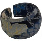 Chirimen Japanese Ring - blue