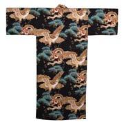 Dragon and Eagle Japanese Kimono Black
