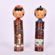 Fishing Farming Kokeshi Couple