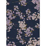 Japanese Furoshiki - Flowers - blue