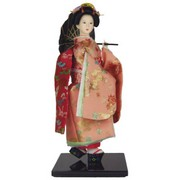 Geisha Doll with Parasol