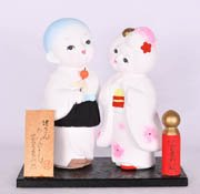 Hairpin Couple Ornament