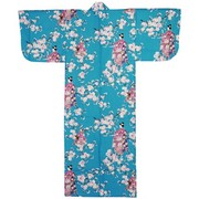 Lady with Blossom Petite Kimono, Turquoise