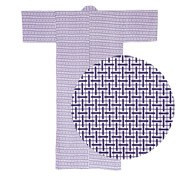 Lined Gauze Yukata - Nemaki Lattice 5