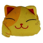 Lucky cat face purse - yellow