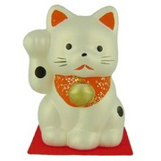 Japanese Lucky Cat - silver