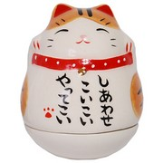 Mini Roly-Poly Manekineko Lucky Cat - Chatora