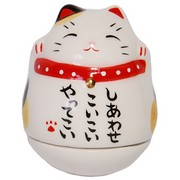 Mini Roly-Poly Manekineko Lucky Cat - Mi-ke