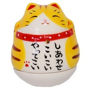 Mini Roly-Poly Manekineko Lucky Cat - Tora (tiger)