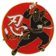 Ninja Pin Badge