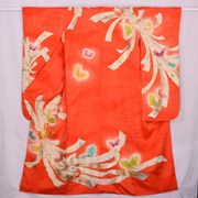 Orange Ribbon Furisode