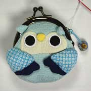Owl purse - Blue
