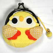 Owl purse - Yellow