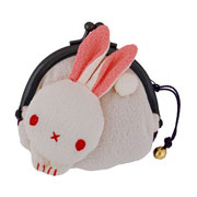 Rabbit purse - cream/purple
