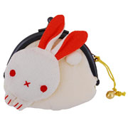 Rabbit purse - cream/yellow