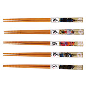 Japanese Chopsticks set of 5 - Samurai Design