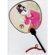 Scented fan card -  Girl with Temari ball