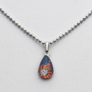 Small Teardrop necklace - Blue