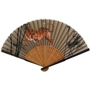 Tiger Japanese Folding Fan