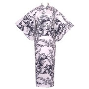 Chrysanthemum and Plum Yukata, White