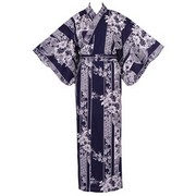 Flowers in Circles Yukata, Navy