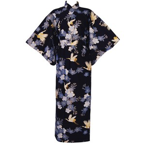 Cherry Blossoms and Crane Yukata, Blue